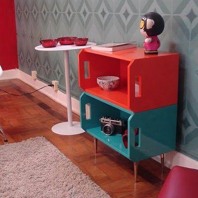 Madames Assumidas: Madame de Casa: decoração com caixote!