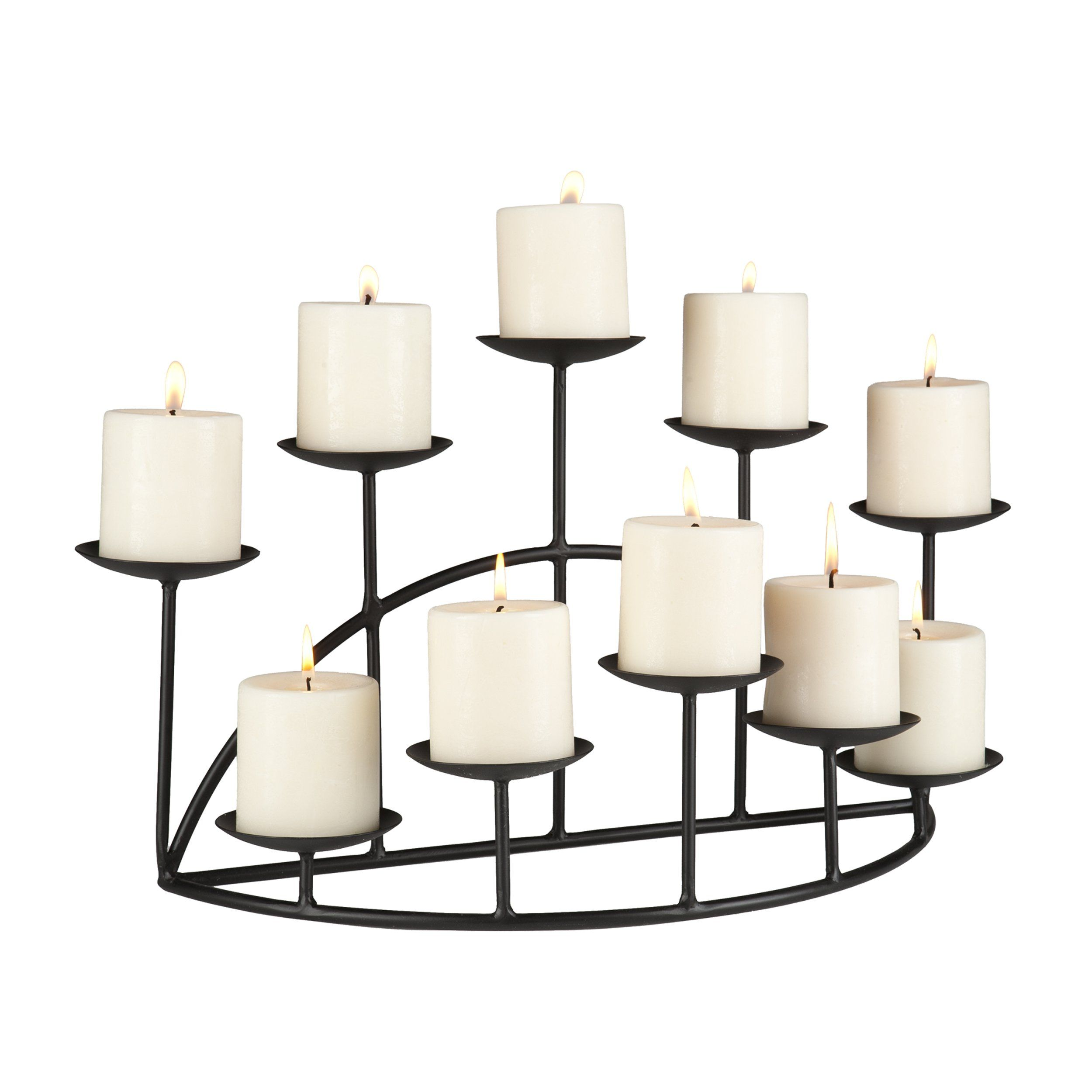 amazon com 10 candle metal candelabra fireplace candle holder