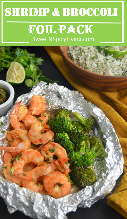 Photo of Shrimp and Broccoli Foil Pack