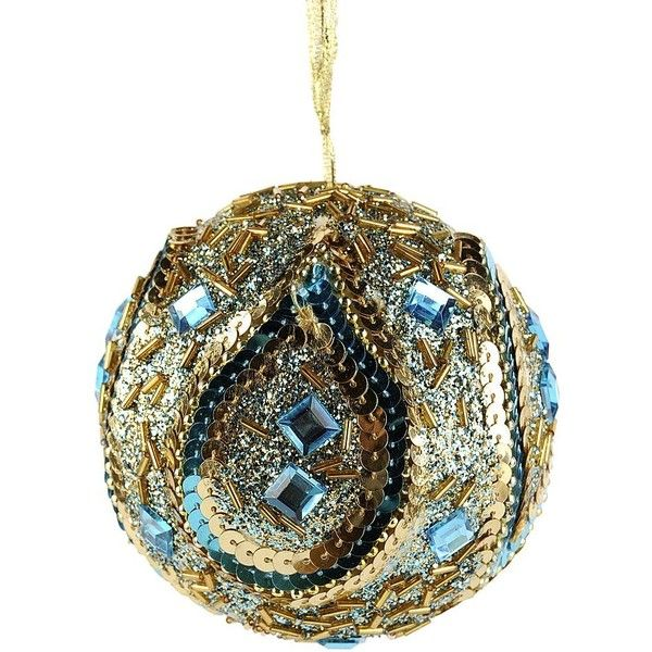 Jeweled Peacock Ornament ($149) ❤ liked on Polyvore featuring home - peacock christmas decorations