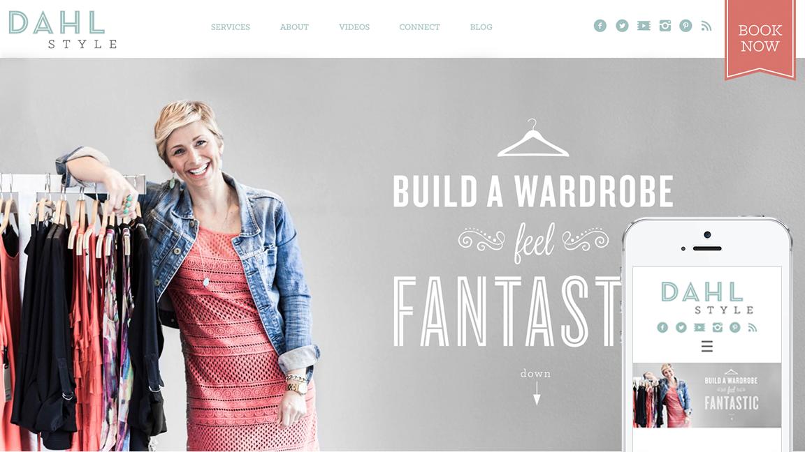 Dahl Style Fashion Web Design By Murmur Creative Portland Or Fashion Web Design Build A Wardrobe Web Design