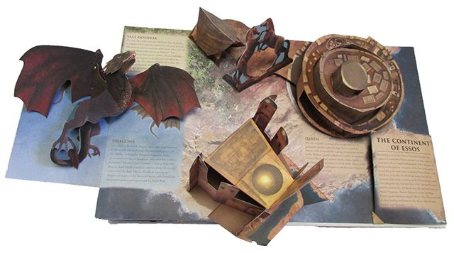 Amazing  Game of Thrones  Pop Up Book That Folds Out to Create a     Amazing  Game of Thrones  Pop Up Book That Folds Out to Create a Giant 3D  Map of Westeros