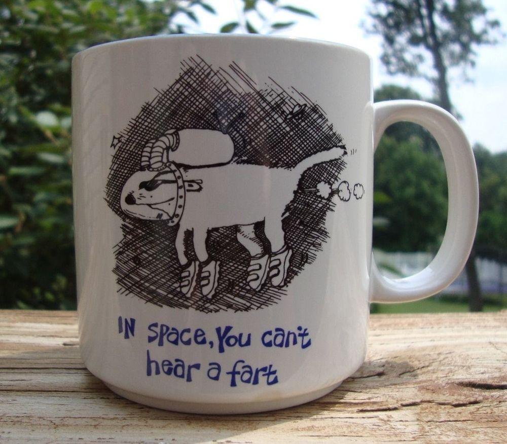 Vintage John Lamb In Space You Can't Hear a Fart Coffee Mug - Estate