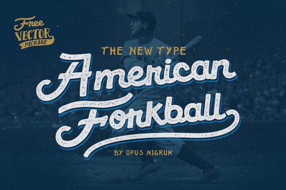 American Forkball 20 Off Baseball Font Lettering Lettering Fonts