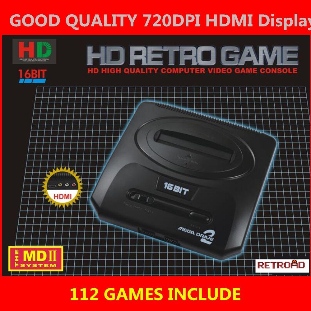 Hdmi Tv Video Game Console Sega Megadrive2 Md2 Retro Game With