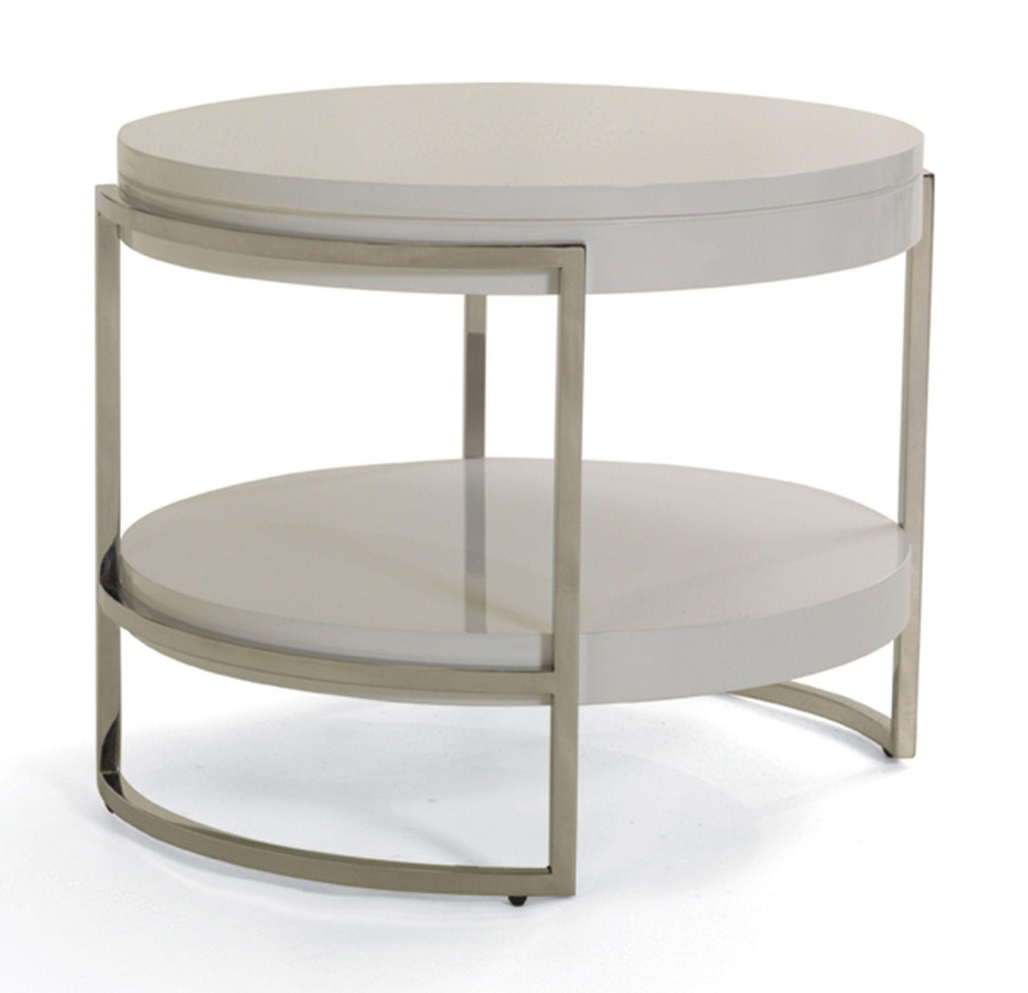 LAWSON ROUND SIDE TABLE hi res finish sugar materials white