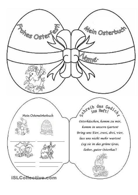 osterbuch ideen deutsch pinterest ostern grundschule und deutsch unterricht. Black Bedroom Furniture Sets. Home Design Ideas