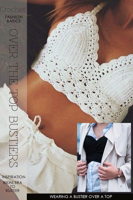 Crochet Bralette Pattern Free Needlecrafts Crochet Overtop