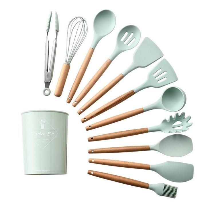 Photo of Silicone Kitchenware (11pcs) – Dark green