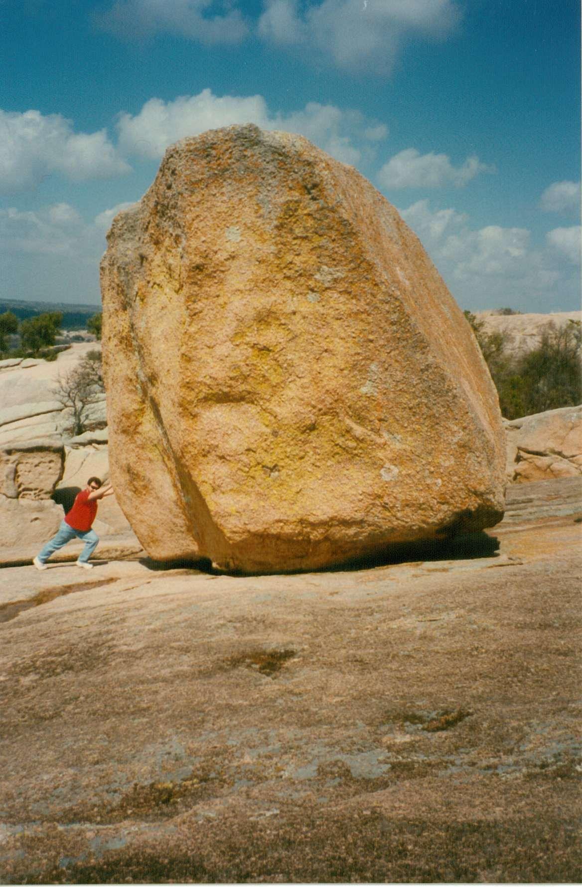 Enchanted Rock North Of San Antonio Tx Boulder On The
