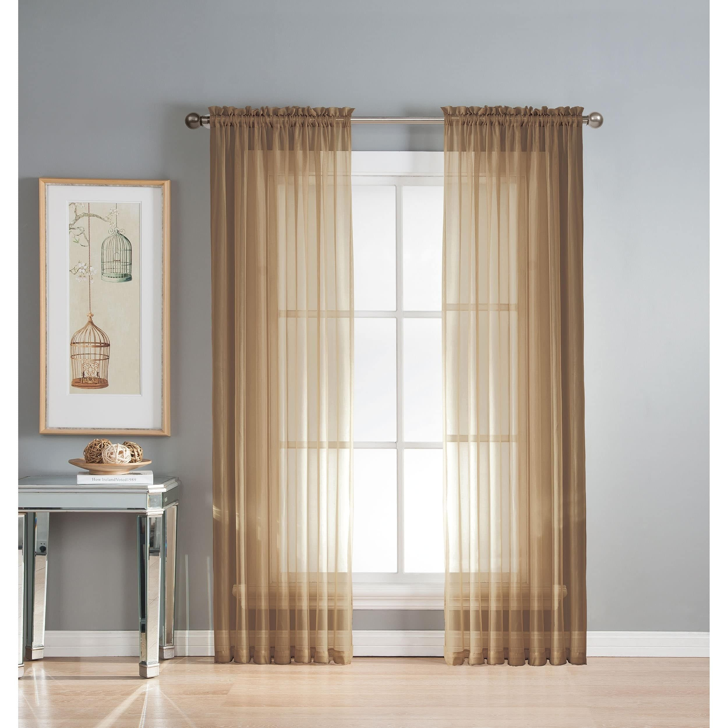 free curtains inch elements window sheer product voile diamond garden orders home scarf over shipping curtain overstock on