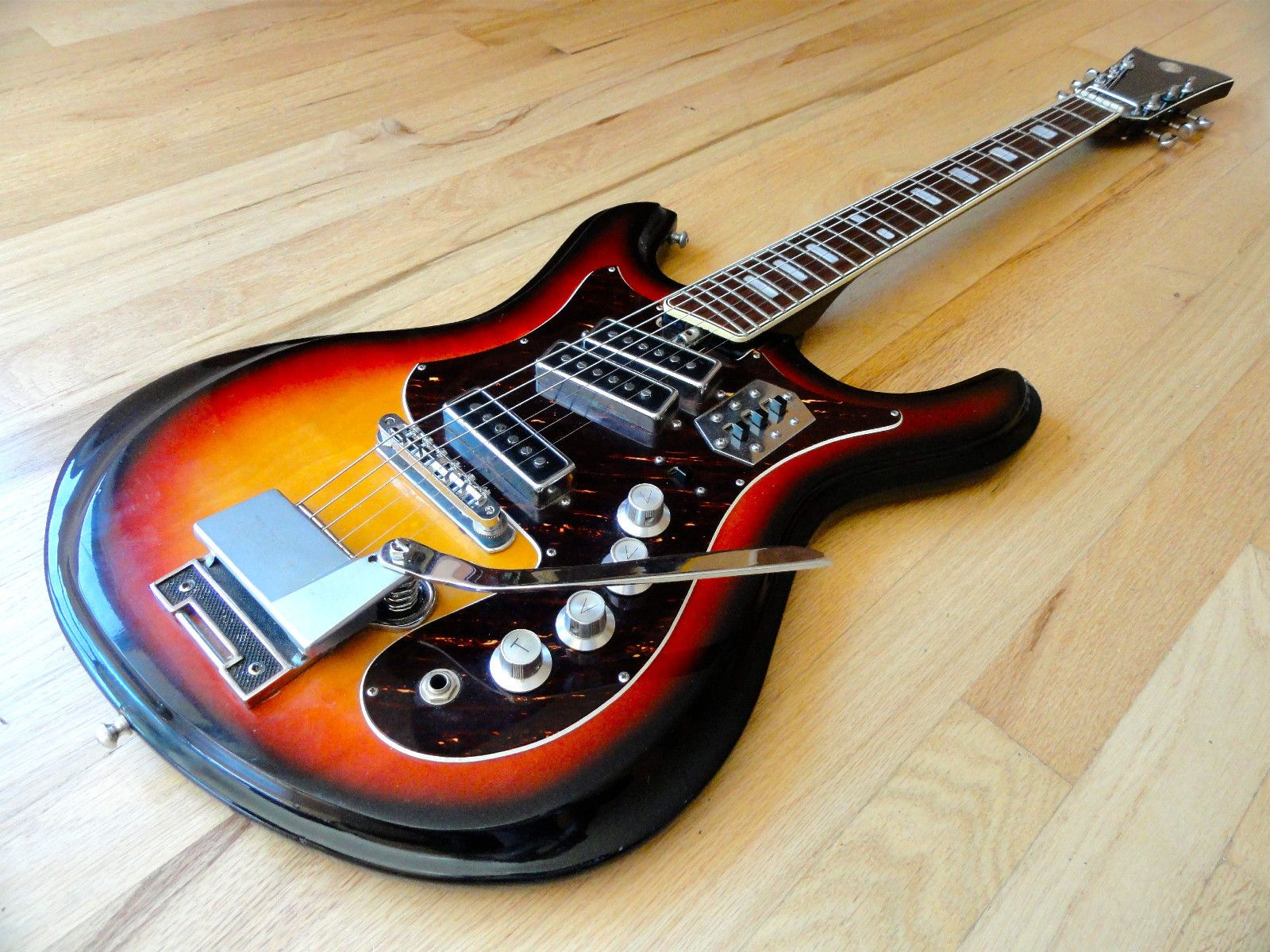 Teisco Spectrum 4 Wiring Diagram Free Download Diagrams Mosrite Guitar Silvertone 1441 Vintage Electric By W Bass Hollow Body