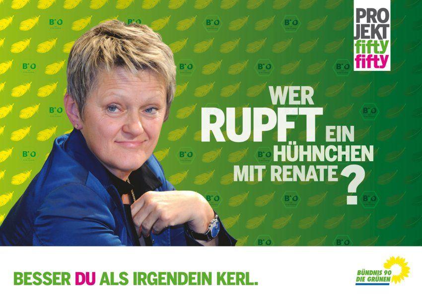 Fifty-Fifty: Wer rupft ein Hühnchen mit Renate? http://www.gruene.de/einzelansicht/artikel/partei-ergreifen-mitglied-werden-1.html
