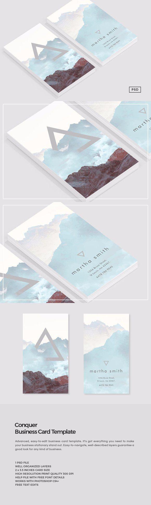 Conquer Business Card Template | Pinterest | Tarjetas presentacion ...