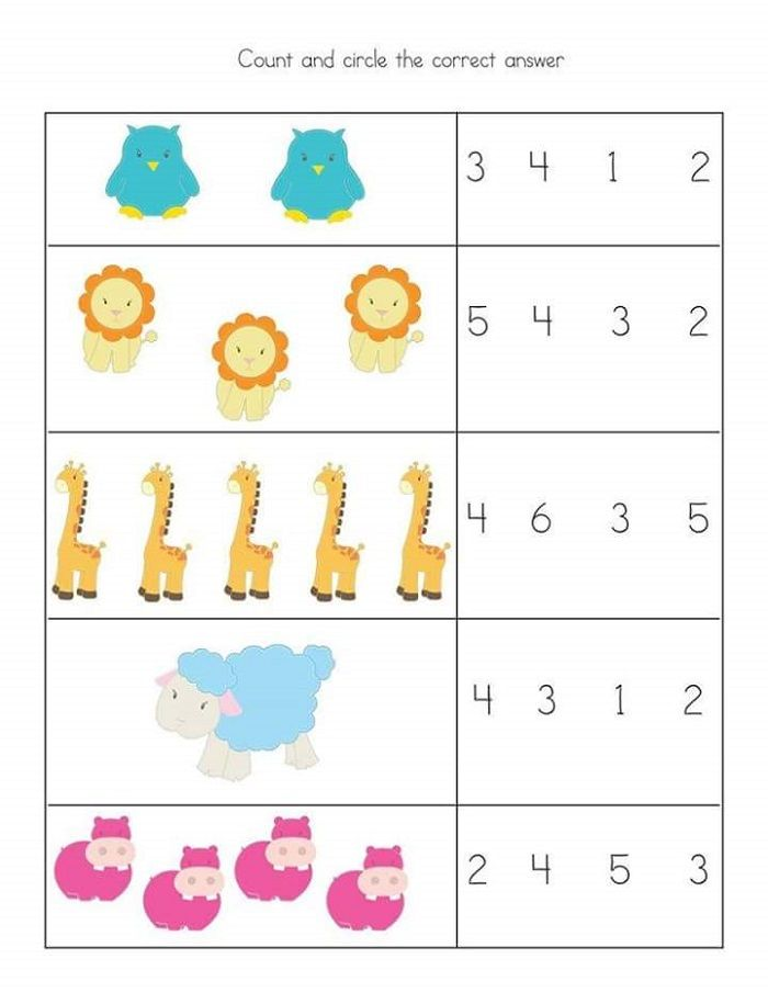 Free and Printable Toddler Worksheets Kids math