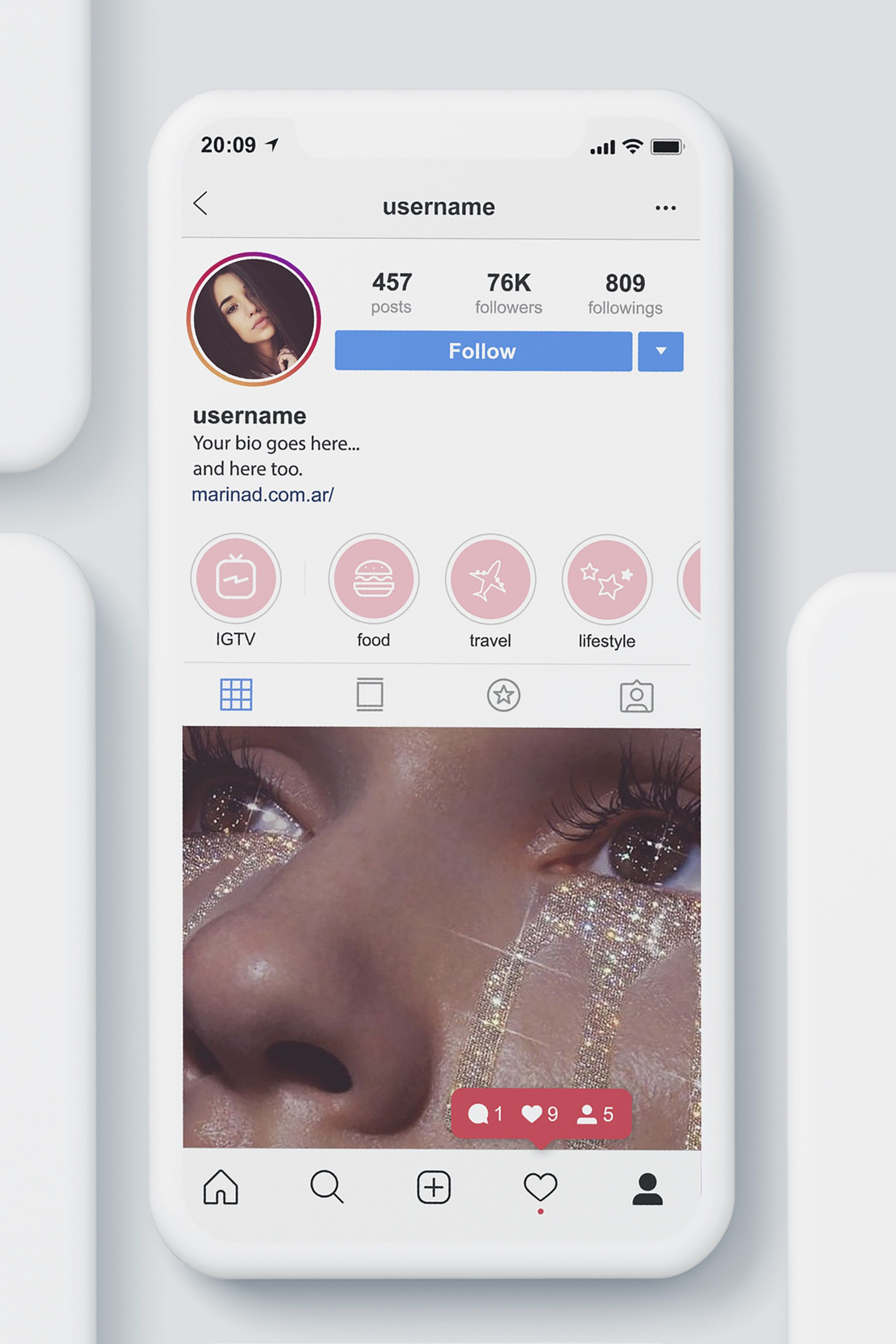 Freebie Super Cute Pink Covers For Instagram Stories Highlights