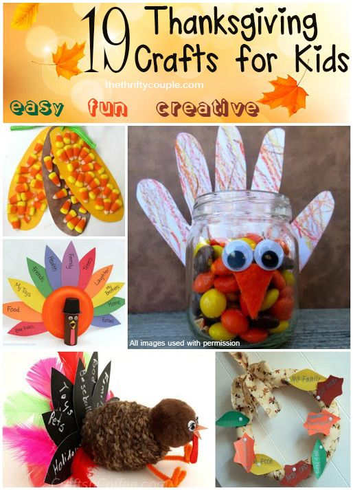 Ordinary Easy Thanksgiving Craft Ideas Kids Part - 3: 19 Thanksgiving Craft Ideas For Kids That Are Cute, Fun, Creative, Frugal  And