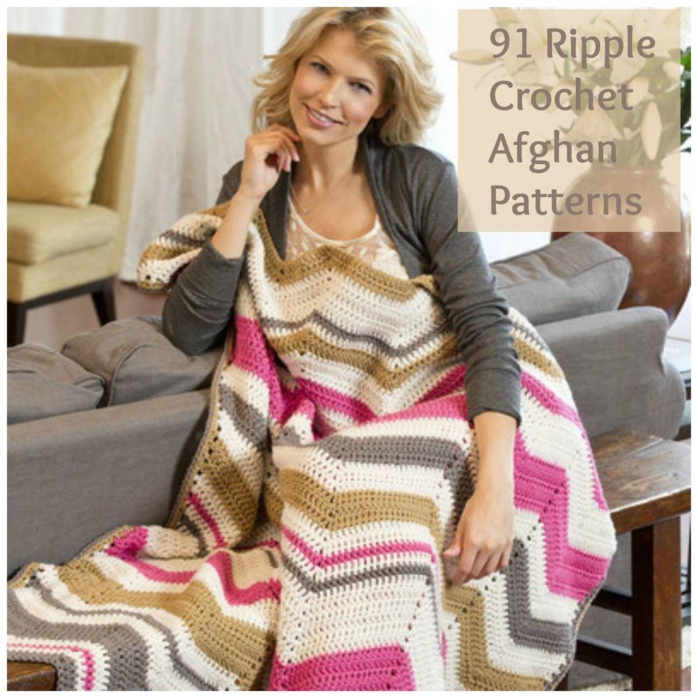 91 Ripple Crochet Afghan Patterns   Crochet afghan patterns ...