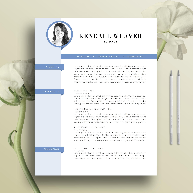 Perfect Resume Design, Instant Download Beautiful CV