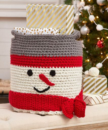 Crochet Snowman Basket | Crochet | Pinterest
