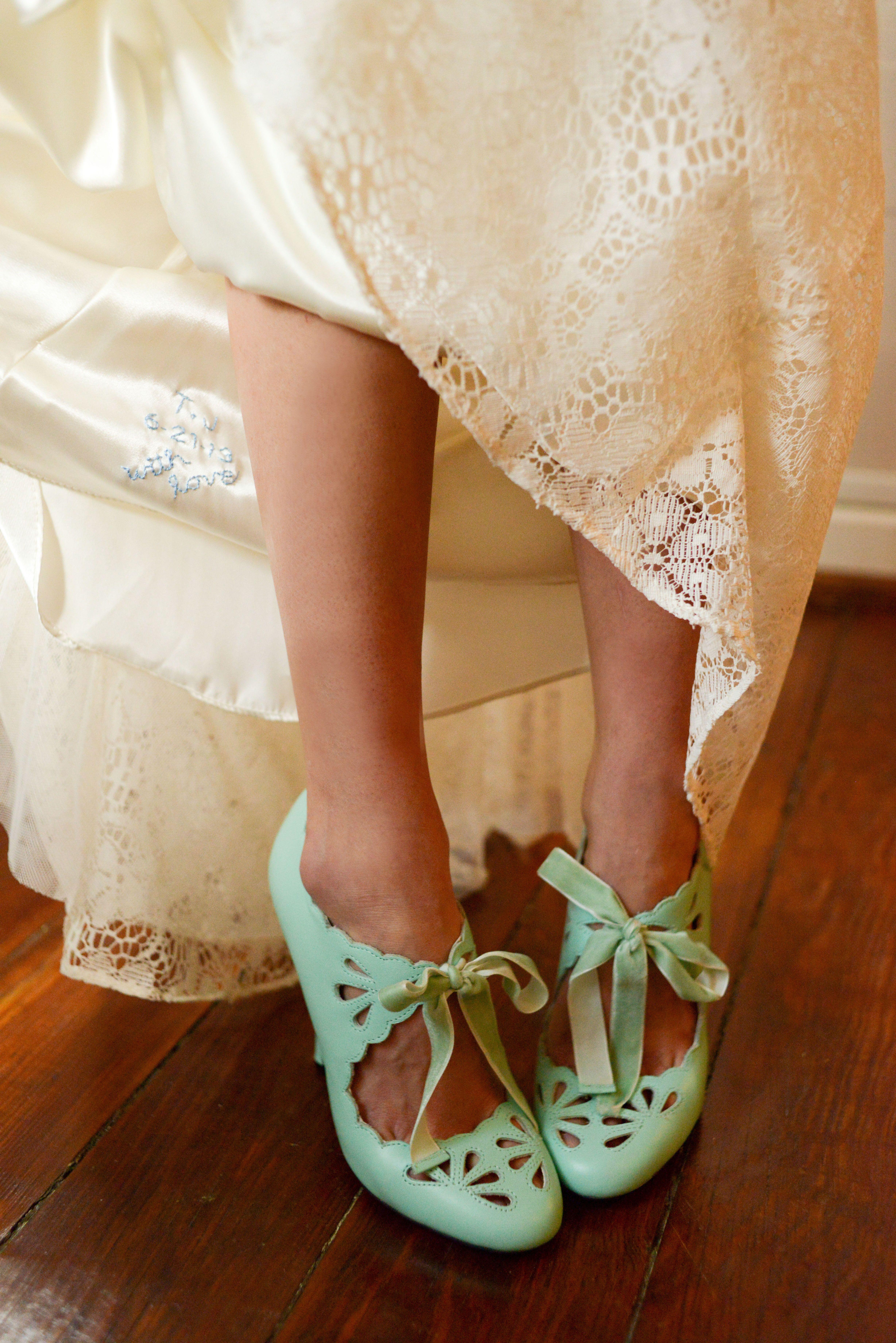 Turquoise Bride Shoes Details Something Blue Robins Egg Blue