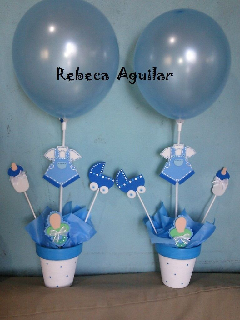 Centro de mesa baby shower para nene 6329 mla5053555441 for Centro de mesa baby shower