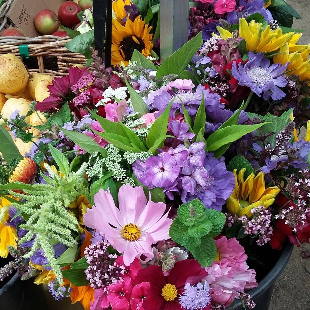 Pretty Bunches Of Flowers At Stockbridge Sunday Market Edinburgh