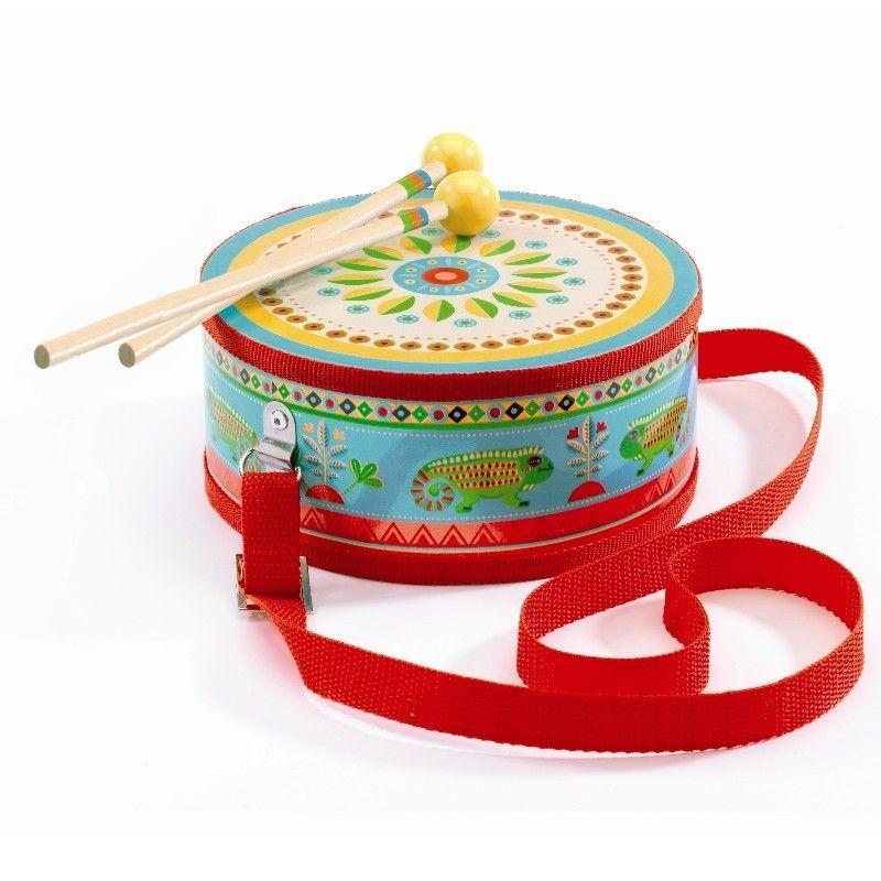 Djeco Animambo Kindertrommel mit Gurt - Erstes Musikinstrument 2+ - Bonuspunkte sammeln, Kauf auf Rechnung, DHL Blitzlieferung!
