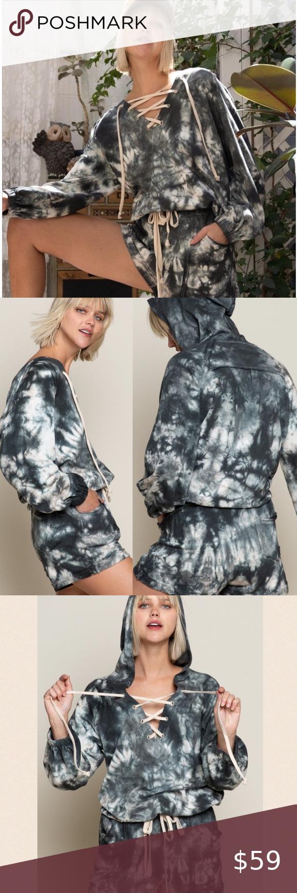 Preorder Indigo Cloud Tie Dye Lace Up Hoodie Tie Dye Clothes Design Lace Up [ 1740 x 580 Pixel ]
