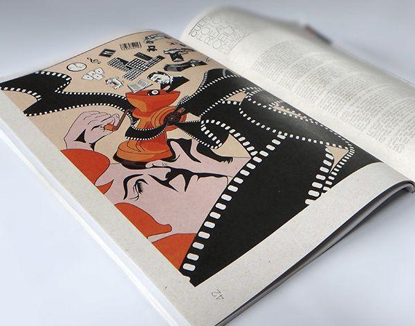 Realidade Filmada -  Ilustração para a revista Coquetel Molotov #5, no Caderno Cultura e Pensamento, para a matéria: Fotogramas da Periferia: A Realidade Filmada na Ceilândia, por Luiz Fernando Xavier.