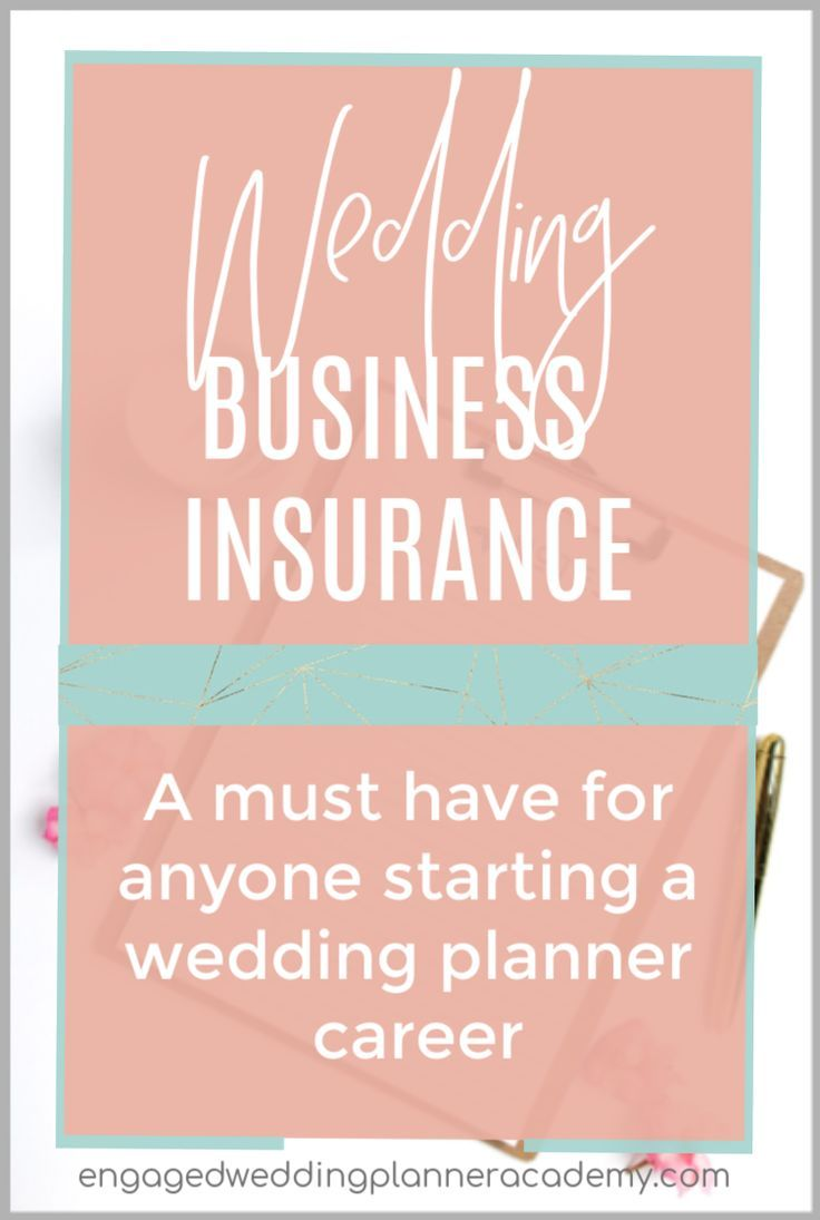 Getting wedding planner insurance for your new business is