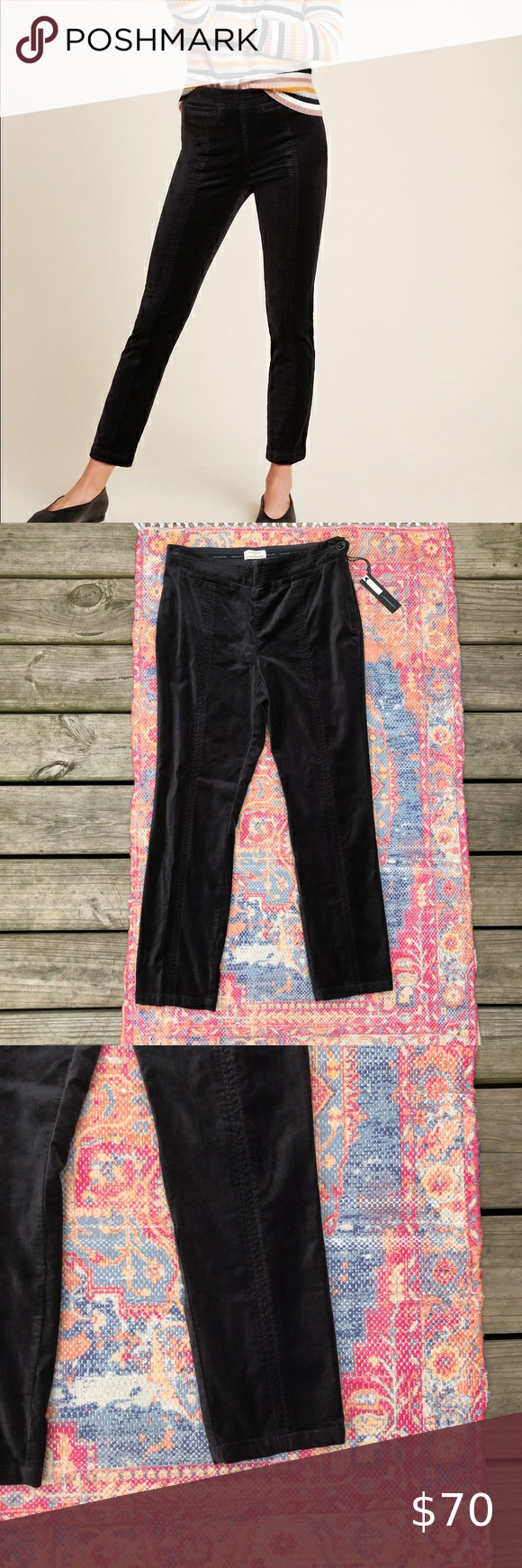 Nwt Anthropologie The Essential Twill Trousers Nwt Anthropologie The Essential Twill Black Velvet Slim Trous Trouser Pants Women Pants For Women Slim Trousers [ 1740 x 580 Pixel ]