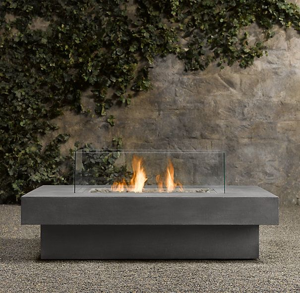 outdoor fire table. Laguna Concrete Natural Gas FireTable™ - Rectangle | Fire Tables \u0026 Columns Restoration Hardware Outdoor Table