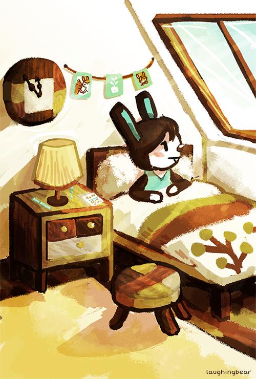 "Modern Furniture Animal Crossing laughingbear: "" animal crossing speedpaint! i love the modern wood"