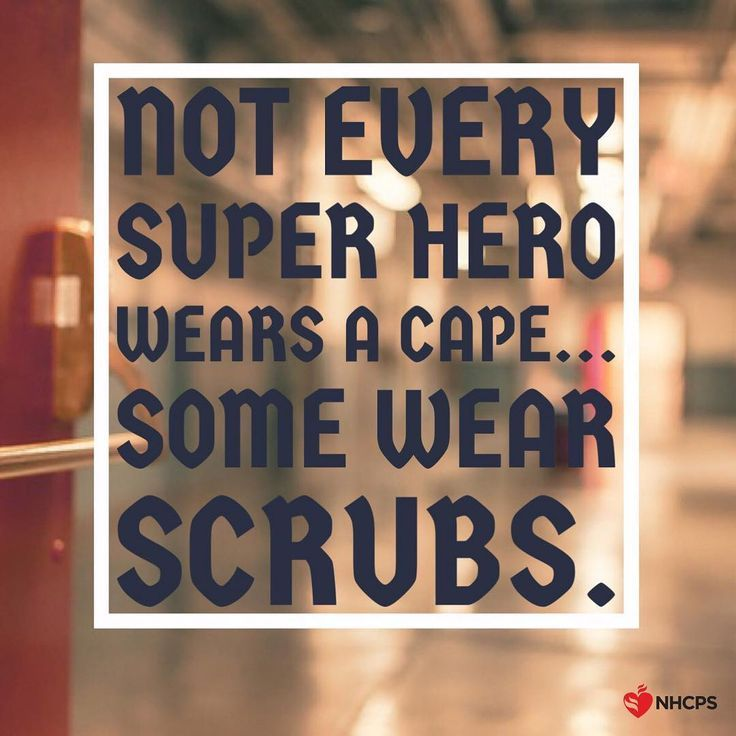 Not every superhero wears a cape... Some wear SCRUBS! Tag