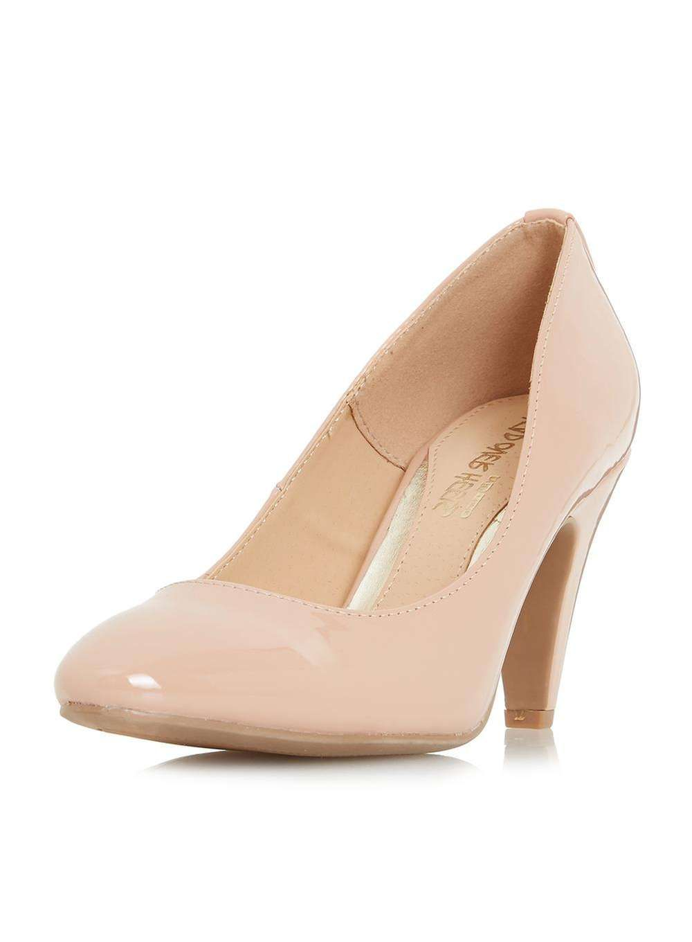 5b7c3bcbe3f5 Head Over Heels By Dune Nude 'Ava' Mid Heel Court Shoes | Products ...