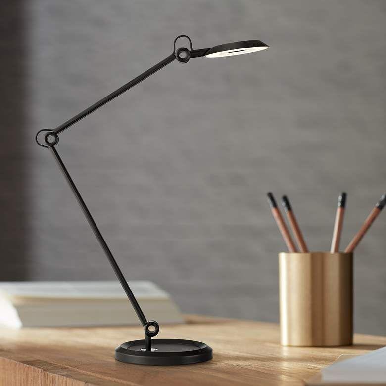 Possini Euro Gemini Black Led Architect Desk Lamp 64m62 Lamps Plus Desk Lamp Led Desk Lamp Architects Desk