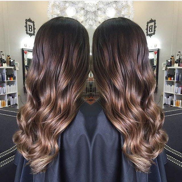 Brunette Balayage Hair Caramel