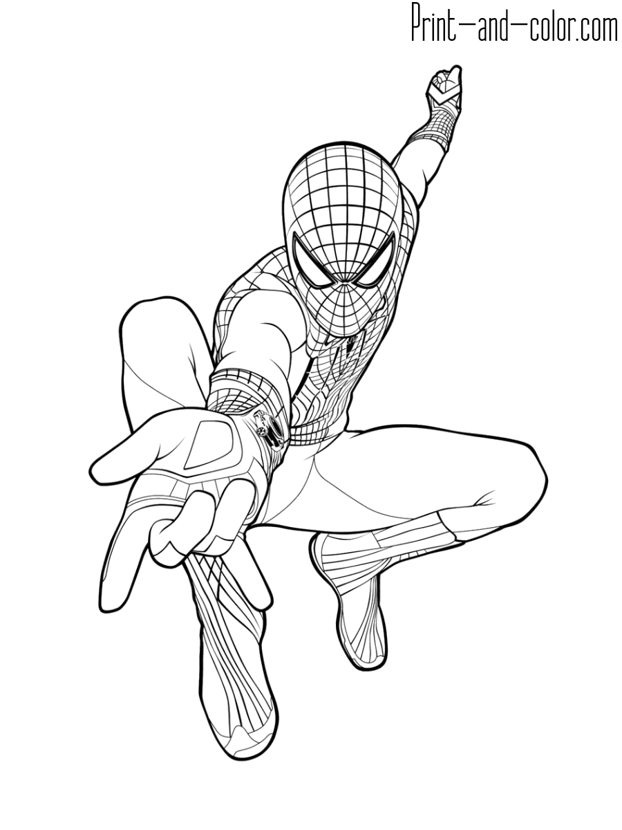 Spider Man Coloring Pages Print And Color Com Spiderman Coloring Superhero Coloring Pages Cartoon Coloring Pages
