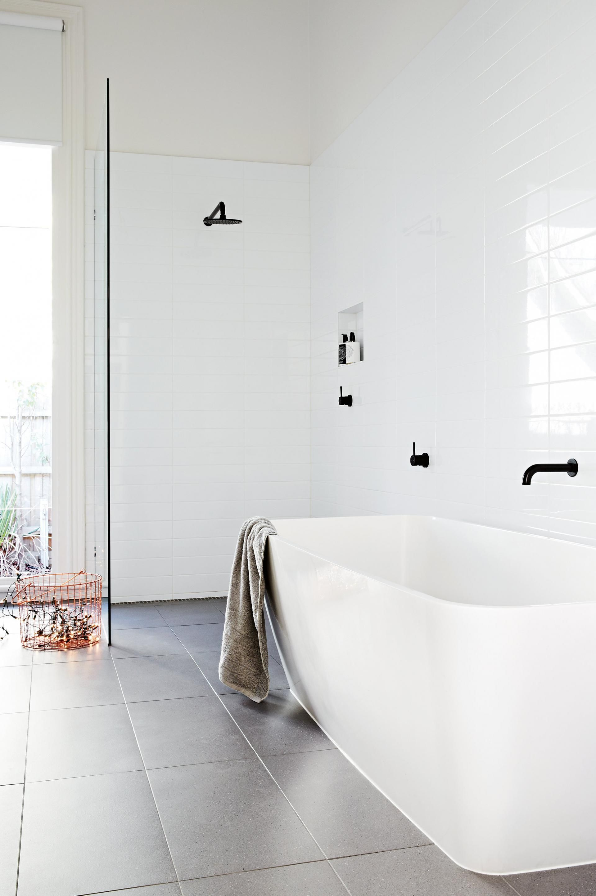 Top 10 black and white bathrooms. Styling by Heather Nette King ...