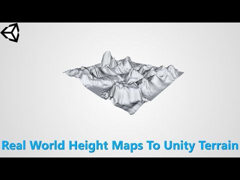 Import Real World Terrain into Unity 3D - YouTube