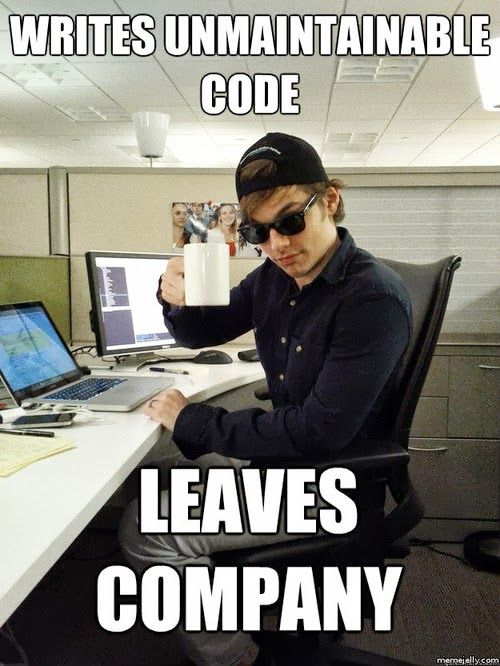 Don't be this guy. Clean code is well documented. | Jokes ...