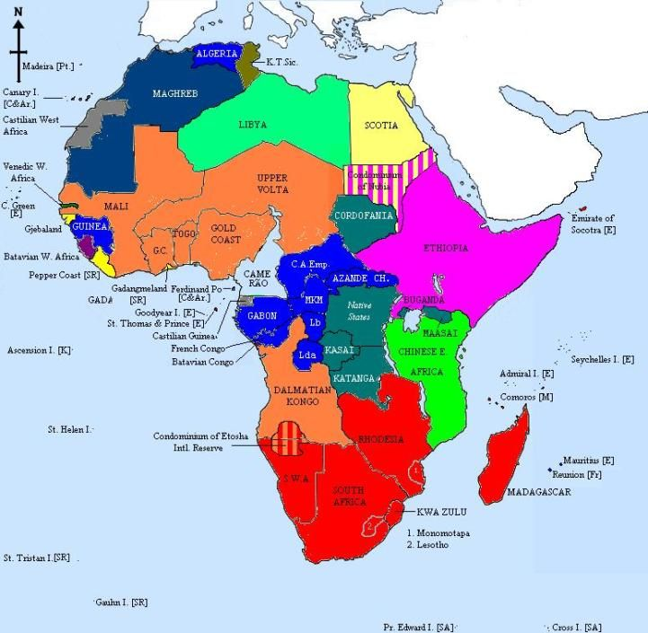 Pre Th Century Berlin Conference Of To Divide Africa - Us map 1884