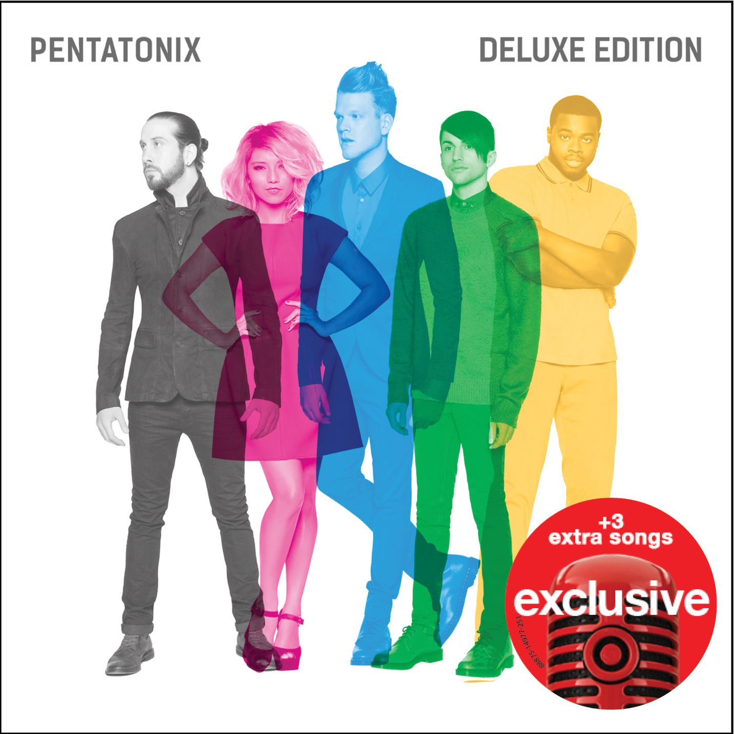"Pentatonix - ""Pentatonix"" (Deluxe Edition): 1. Na Na Na 2. Can't Sleep Love 3. Sing 4. Misbehavin' 5. Ref 6. First Things First 7. Rose Gold 8. If I Ever Fall In Love (feat. Jason Derulo) 9. Cracked 10. Water 11. Take Me Home 12. New Year's Day 13. Light In The Hallway 14. Where Are Ü Now 15. Cheerleader 16. Lean On 17. Can't Sleep Love (feat. Tink)"