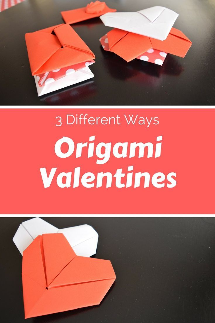 3 Different Origami Valentine Notes Fave Mom Valentine Notes Origami Valentines Origami