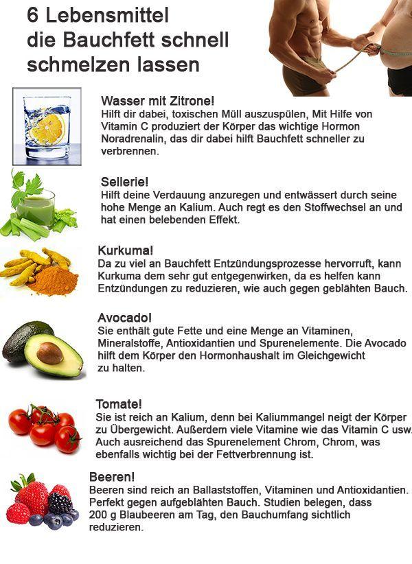 Für immer schlank: 6 Lebensmittel, die schnell Bauchfett schmelzen ...   - Fitness -   #Bauchfett #d...