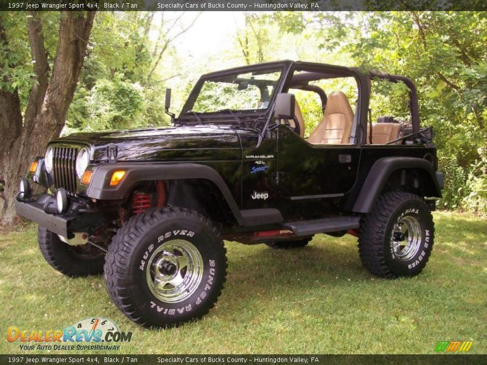 1997 Jeep Wrangler Sport 4x4 Black / Tan Photo 1 1997