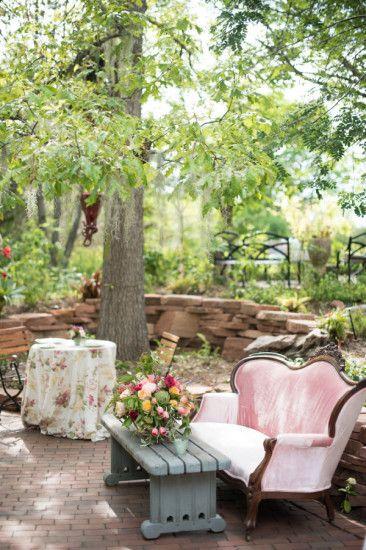 Outdoor Garden Baby Shower Seating Area