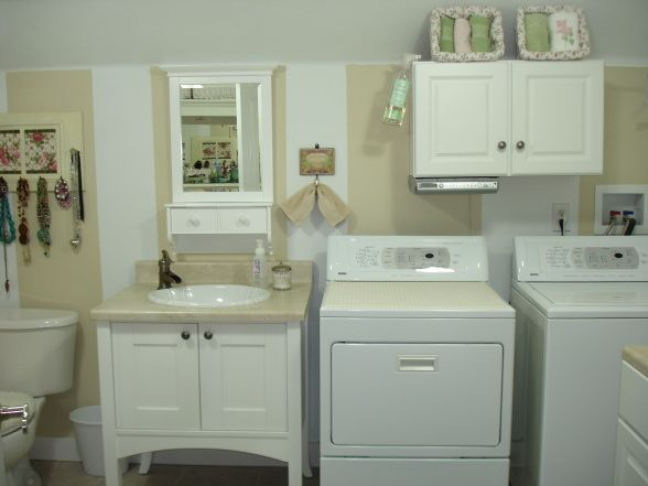 Awesome Bathroom Laundry Room Combination | Laundry Room; Before And After, Half  Bath And Laundry Part 25