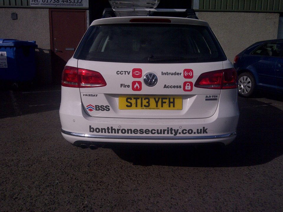 Bonthrone Security Services Ltd Car Branding Design
